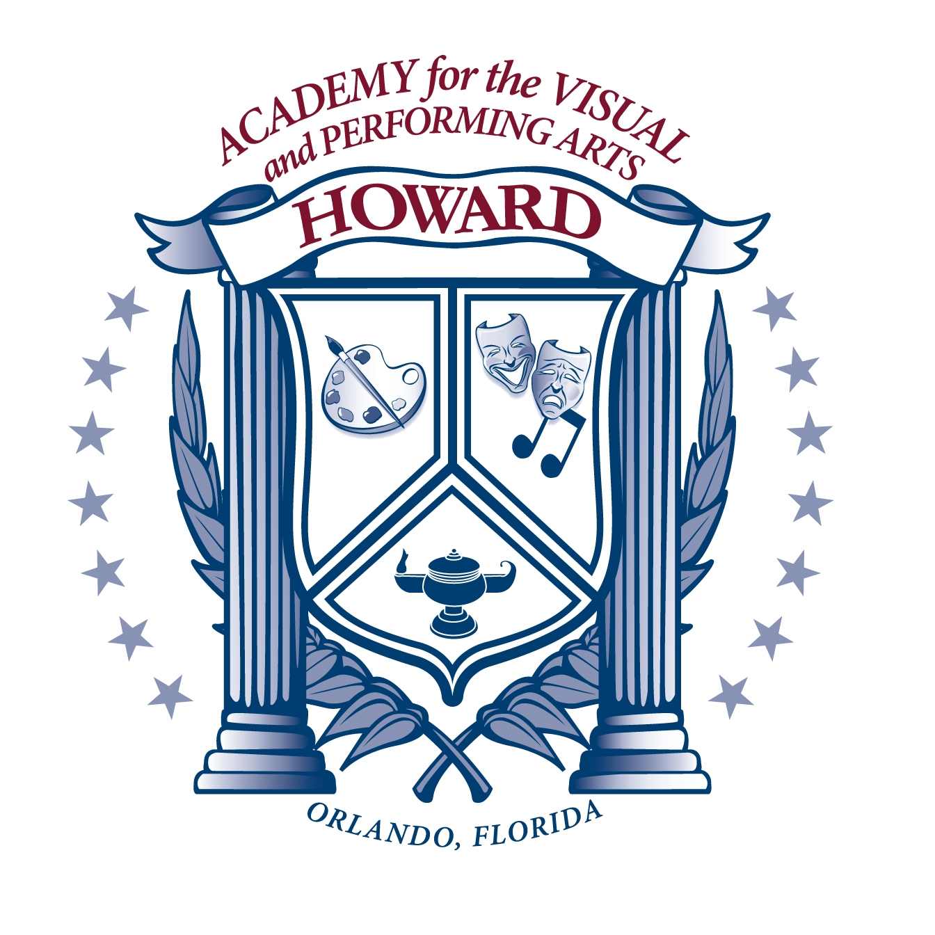 howard midle school academy logo